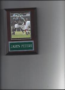 JASON PETERS PLAQUE PHILADELPHIA EAGLES FOOTBALL NFL