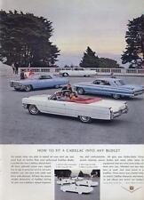 1964 Cadillac PRINT AD 4 great models