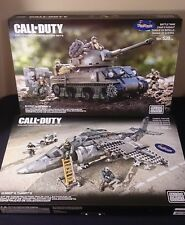 MEGA BLOKS CALL OF DUTY COLLECTOR CONTRUCTION SETS BATTLE TANK & COMBAT FIGHTER