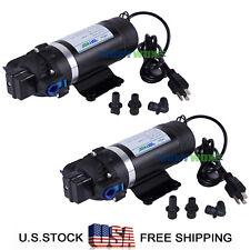 Lot of 2,110-120V High Pressure Diaphragm Pump 160PSI Self-priming Water Pump
