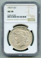 1927 S Peace Silver Dollar NGC AU 58