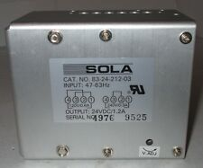 SOLA ELECTRIC 83-24-212-03 (083-00212-0300-24) 24VCD/1.2A Power Supply