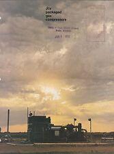 VINTAGE CATALOG #3034 - 1972 JOY PACKAGED GAS COMPRESSORS