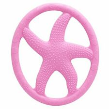 AILAMS Starfish Baby Teether Ring, Food Grade Silicone BPA Free (Pink)