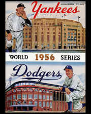 1956 World Series - (Yankees & Dodgers) Poster of Program  - 8x10 Color Photo
