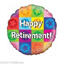 Happy Retirement Stars 18'' (45cm)  Foil Balloon Event Decoration