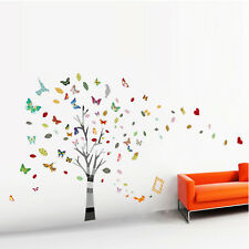 Walplus Wall Sticker Decal Wall Art Colourful Flower Photo Frame with Butterfly