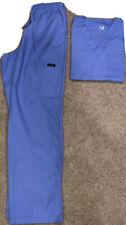 Dagacci Scrubs Medical Uniform Women and Man Scrubs Set Small Top And Pant Blue