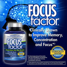 FOCUSfactor Dietary Supplement 150 Tablets per Bottle for Brain ~ Made in USA ~