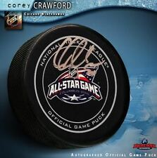 COREY CRAWFORD Signed 2015 All Star Game Official Game Puck- Chicago Blackhawks