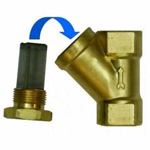 3/8 BSP Valve Y Strainer Pressure Washer Water Filter Brass Inline Diesel Oil