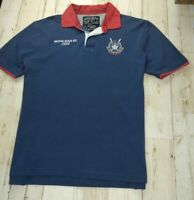 Nautica Jeans Men's Short Sleeve Blue Large Polo Shirt Marine Great Condition