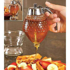 Clear Honey Syrup Dispenser Acrylic Kitchen Holder Pot Container  In XDUK