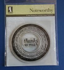 NEW Inkadinkado Noteworthy 'Thanks so Much' 2 Clear Stamps (97871)