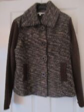 Ladies Klass Brown Winter Jacket, Lined, Front Buttons, Side PocketsSize XL NEW
