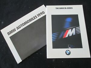 1990 1991 BMW M Cars Brochure Set E30 M3 E34 M5 Rare US Sales Catalog Motorsport