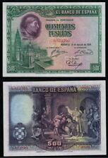 500 Pesetas año 1928. Cardenal Cisneros. Sin Serie nº 0822702. BONITO en EBC+.