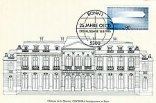 Carte maximum Mk Bund 1986 NR: 1294 25 ans OCDE Chateau de la Muette mk248