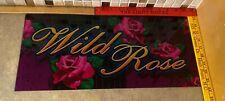 "Bally ""Wild Rose"" Slot Machine Glass G595-00102-ROSE FAST FREE SHIP!! Z-7"