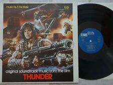 Francesco De Masi - THUNDER LP Soundtrack Beat Records LPF 064 Italy 1983  OST