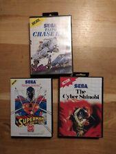 [LOT] Sega Master System/Taito Chase H.Q./Superman/The Cyber ShInobi