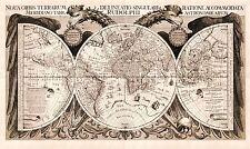 MAP ANTIQUE ECKEBRECHT 1630 WORLD ATLAS OLD LARGE REPLICA POSTER PRINT PAM0893
