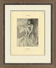 "Rare, Original 1898 ""November by Alphonse Mucha for Cocorico, Custom Framing"