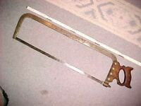 VINTAGE NICE HENRY DISSTON & SONS MEAT BUTCHER HACK SAW CAST STEEL WARRANTED #5