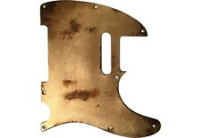 Pickguard CUSTOM ORDER Fender Telecaster style RELIC GOLD LEAF SILVER COPPE aged