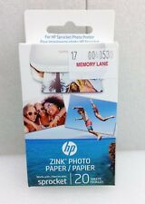 """20-Pack HP Sprocket Zink Photo Printer Paper - Print 2x3"""" Color Photo Stickers"""