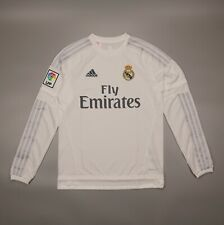 NWOT LongSleeve Real Madrid 2015 2016 Football Shirt Jersey Adidas Youth Size XL
