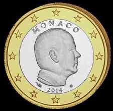 MONACO 1 Euro Prince Albert 2014 UNC x 5