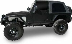 2004-2006 Jeep Wrangler Unlimited LJ Frameless Bowless Soft Top Sailcloth Black
