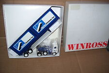 1982 Carrier Sysyems Diecast Flat Bed Truck With Dark Blue Container Load