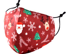 Fabulous Santa Reindeer Christmas Themed Protective Face Covering Mask