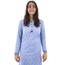 Camicia da notte donna invernale in caldo cotone interlock felpata  0DICAM036