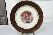 Hohenzollern Cabinet Plate Romantic Couple Renaissance Gallery Burgundy Gold Rim