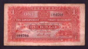 Straits Settlements P-9a. 1925 One Dollar..  aFine