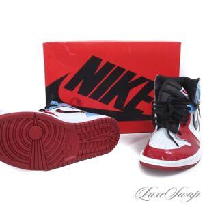 NIB Nike Air Jordan CK5666-100 Fearless Patent Leather OG High 1 Sneakers 10 NR