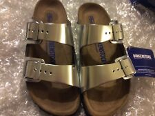 BIRKENSTOCK ARIZONA SILVER LEATHER SOFT FOOTBED US 5N EU 36(6600)