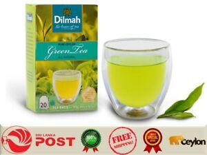 PURE NATURAL CEYLON GREEN TEA DILMAH 20 TEA BAGS 40g CEYLON PRODUCTS