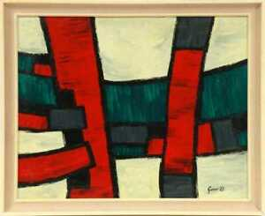 WILLIAM GEAR  ABSTRACT EXPRESSIONIST OIL PAINTING SCOTTISH SCOTTLAND