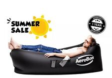 AeroBon Black Inflatable Lounge Bag with Carry Bag Ideal for Indoor or Outdoor