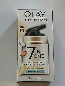 OLAY Total Effects 7-in-1 Moisturizer Sunscreen SPF 15, Fragrance-Free 1.7 oz