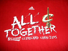 Adidas Cleveland Cavaliers CAVS Playoffs T-Shirt 'All Together' Red Size LARGE
