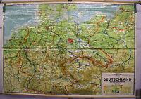 Schulwandkarte Wandkarte Rollkarte Schulkarte Deutschland Großraumkarte 276x191c