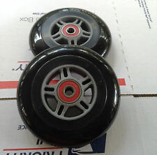 "4"" QUICKIE WHEELCHAIR CASTERS-TILITE-INVACARE  ( 2 WHEELS / W SPACERS) BLACK"