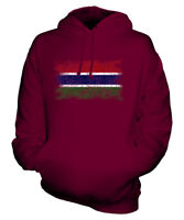 GAMBIA DISTRESSED FLAG UNISEX HOODIE TOP GAMBIAN  FOOTBALL JERSEY GIFT