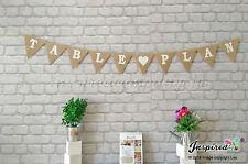TABLE PLAN Wedding Burlap Hessian Bunting Decoration