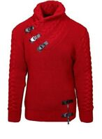 LCR Mens Big and Tall High Fashion Red Slim Fit Sweater
